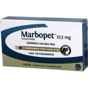 Marbopet  Antibiótico Ceva 27,5 mg Caes 10 Cp