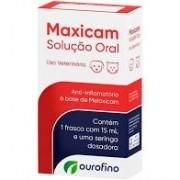 Maxicam  Anti-inflamatório  Ourofino Solução Oral 15ml