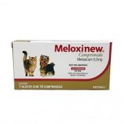 Meloxinew 0,5mg Vetnil Anti-inflamatório para Cães e Gatos 10 comprimidos