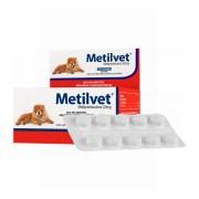 Metilvet 20mg Anti-inflamatório Vetnil para Cães e Gatos com 10 comprimidos