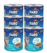 Kit Com 12 Latas 290gr Ração Úmida para Gatos Faro Carne e Peixe