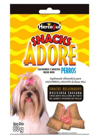 Adore Snacks Caes R Mini e Filhotes 80g