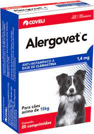 Anti-histamínico Alergovet C para Cães 1,4mg 20 comprimidos Coveli