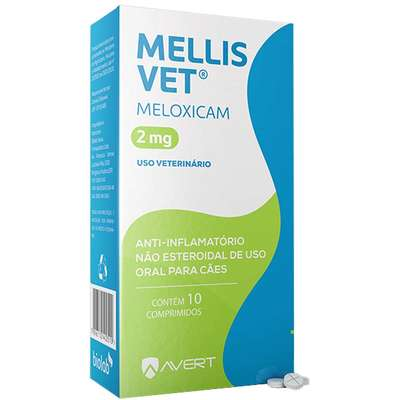 Anti-inflamatório Avert  Mellis Vet 2,0mg X 10 Comp