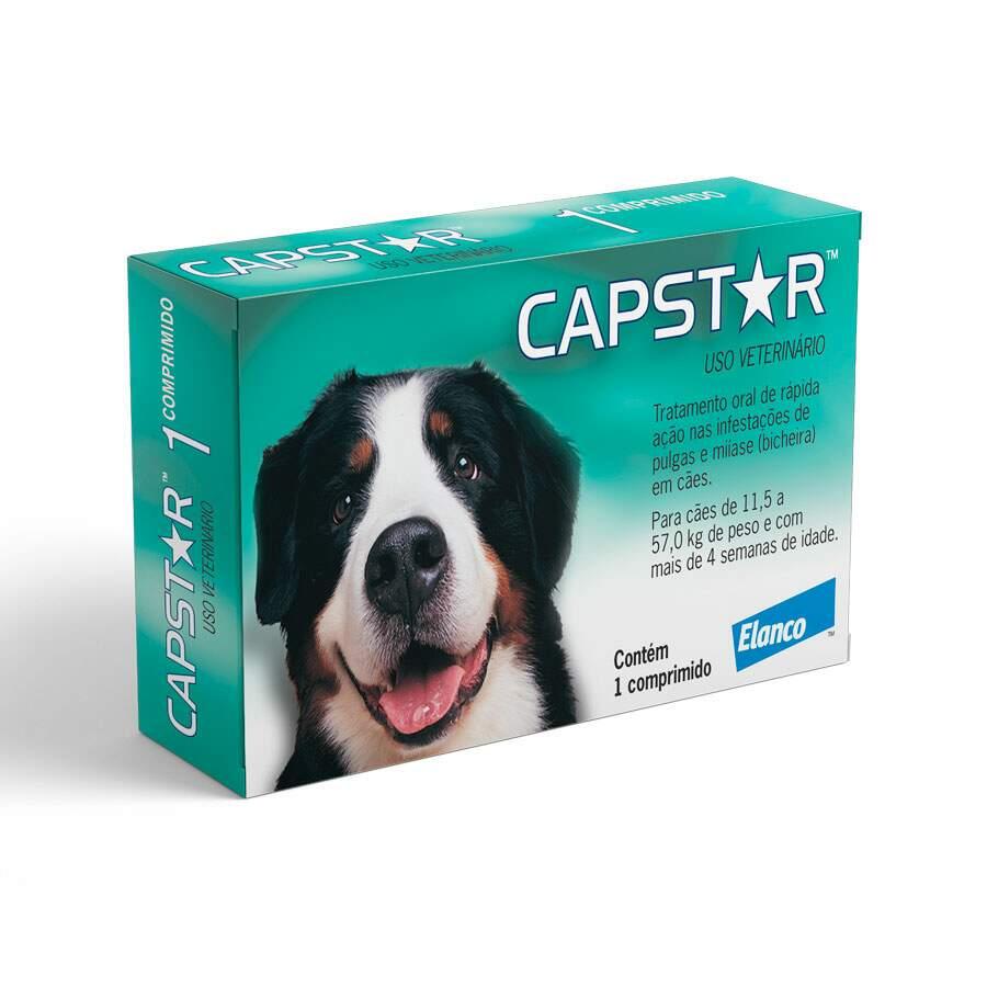Anti-pulgas Capstar 57mg para Cães de 11,4 a 57kg 1 comprimido Elanco