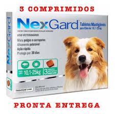 Anti-pulgas e Carrapatos NexGard Cães 10,1 A 25kg 3 tabletes