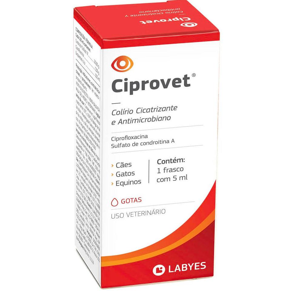 Antibiótico Ciprovet Colírio 5ml Labyes