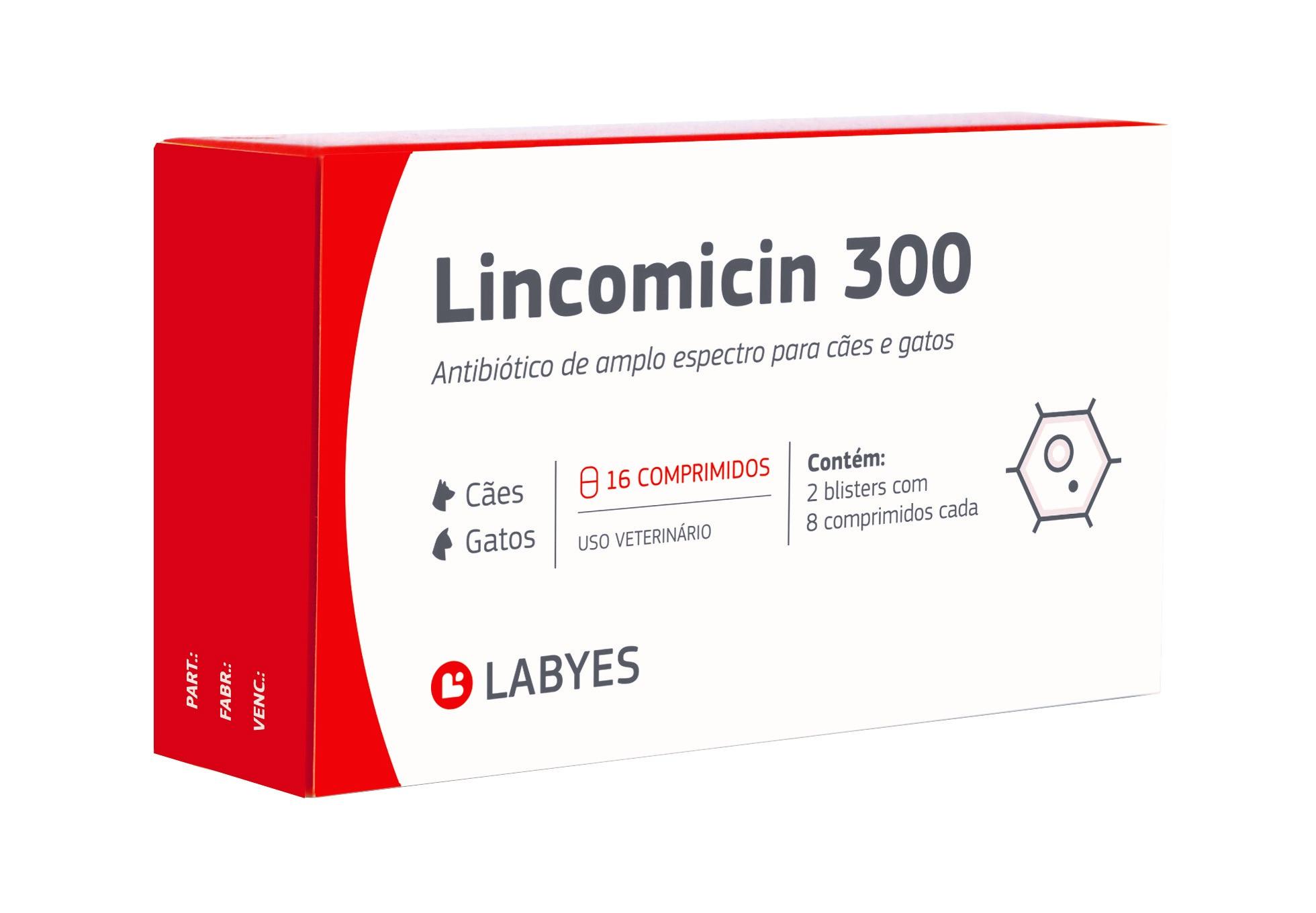 Antibiótico Lincomicin 300mg 16 comprimidos Labyes