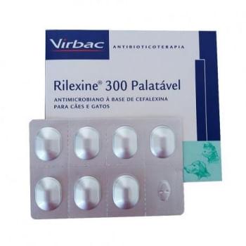 Antibiótico Rilexine 300mg Palatável para Cães e Gatos 7 Comprimidos Vribac