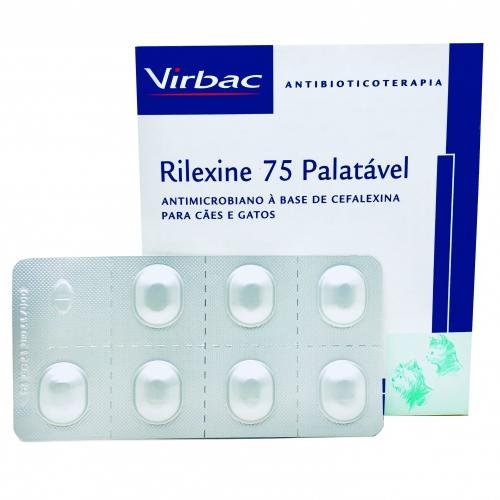 Antibiótico Rilexine 75mg Palatável para Cães e Gatos 7 Comprimidos Virbac