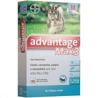 Antipulgas e Carrapatos Advantage Max3 Cães 4 a 10kg 1,0 ML 1 bisnaga Bayer