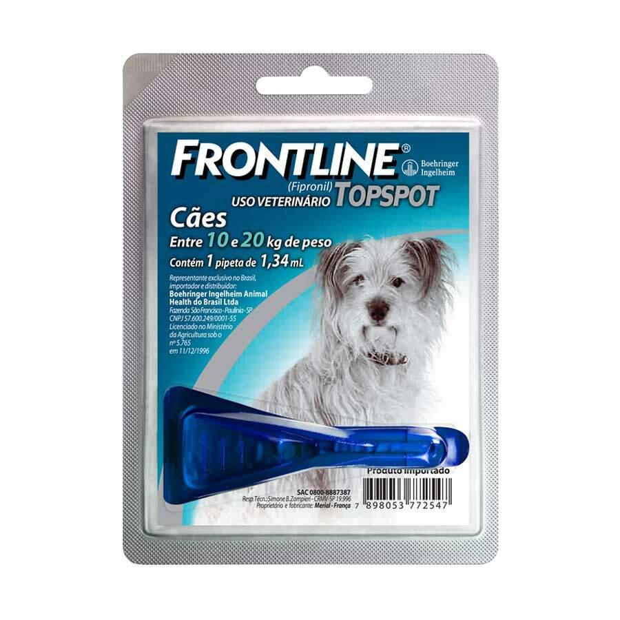 Antipulgas e Carrapatos Frontline TopSpot Cães Médios10-20 kg 1.34ml 1 Pipeta