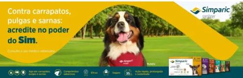 Antipulgas Zoetis Simparic 80 mg para Cães 20,1 a 40 Kg C/3 Comprimidos