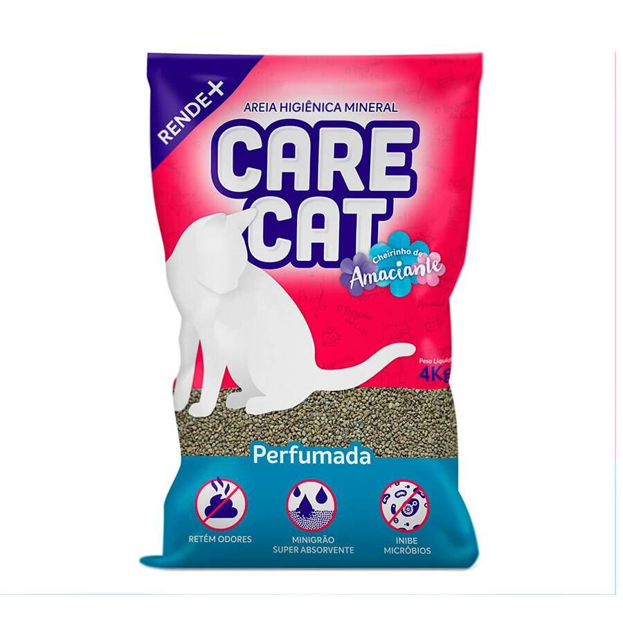 Areia Higiênica para Gato Carecat Perfumada 4kg