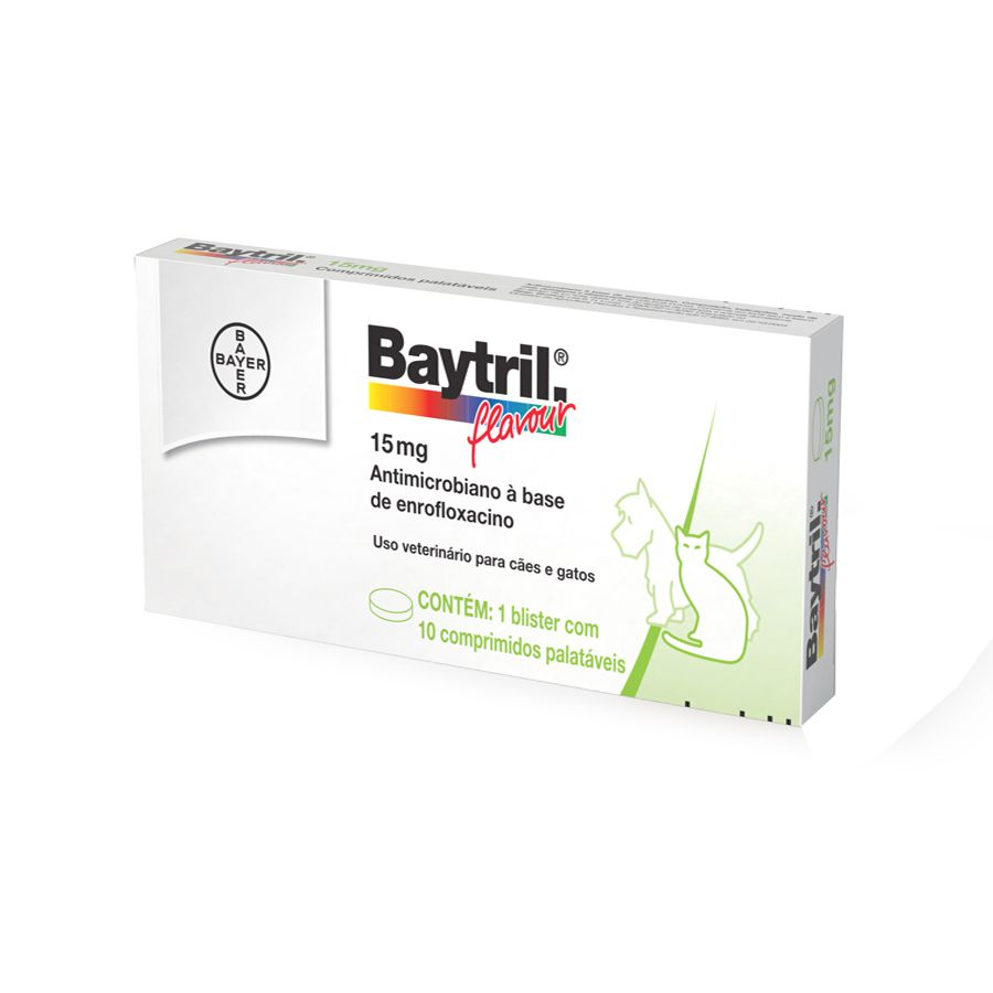BAYTRIL FLAVOUR 15MG 10CP COMP. PALATÁVEIS