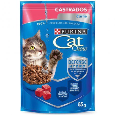 CAT CHOW CASTRADOS CARNE AO MOLHO 85G