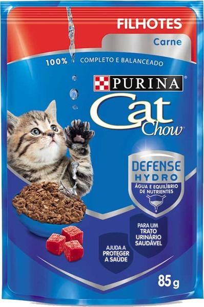 CAT CHOW FILHOTES CARNE AO MOLHO 85G