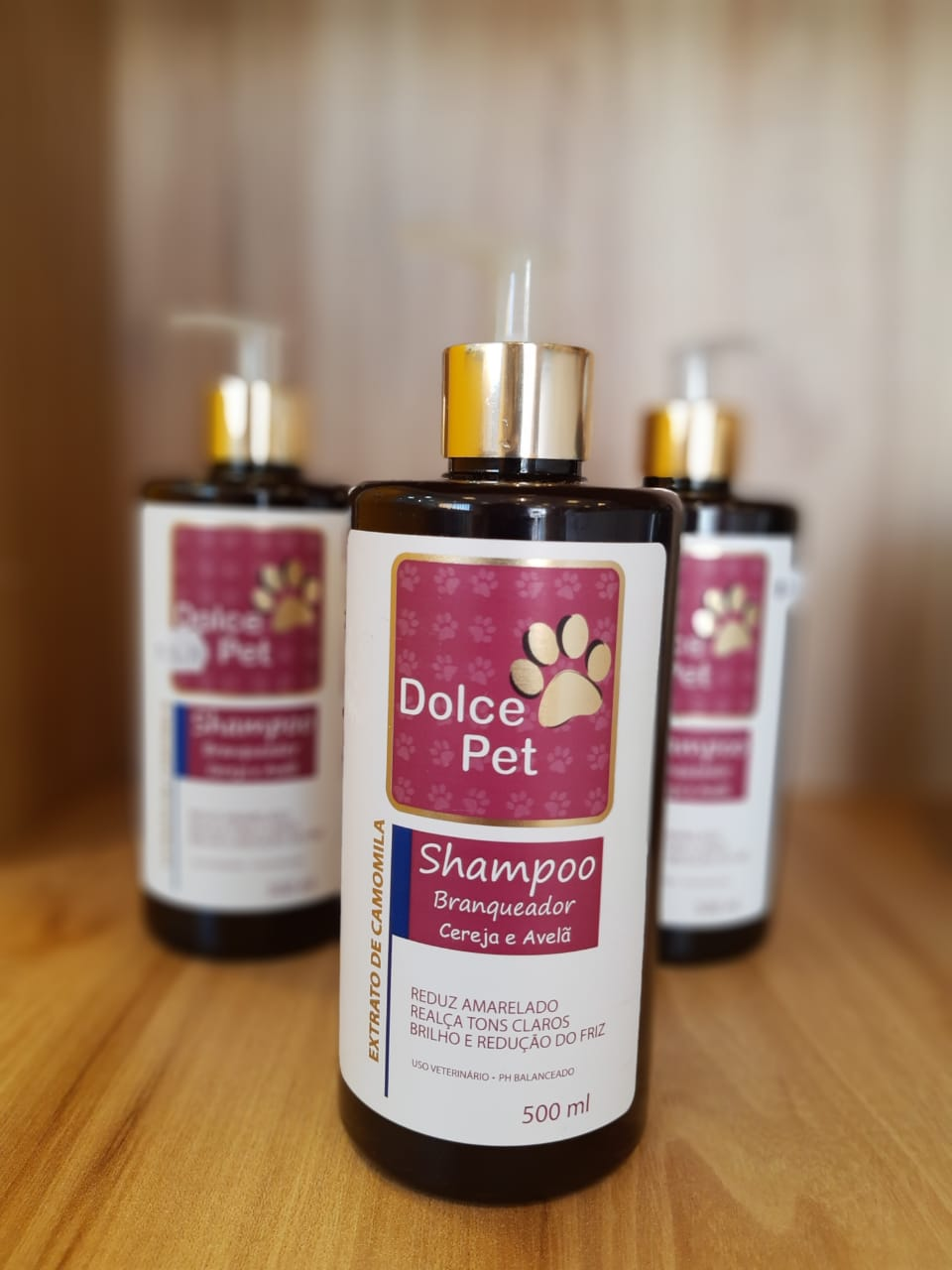 Dolce Pet Shampoo Branqueador Cereja e Avelã 500ml