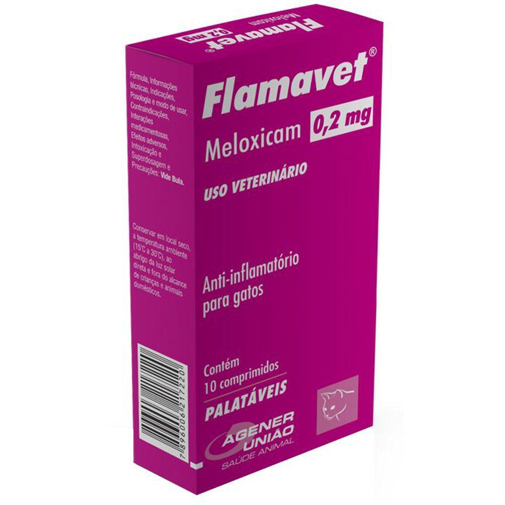FLAMAVET AGENER UNIÃO 10 COMPRIMIDOS 0,2MG