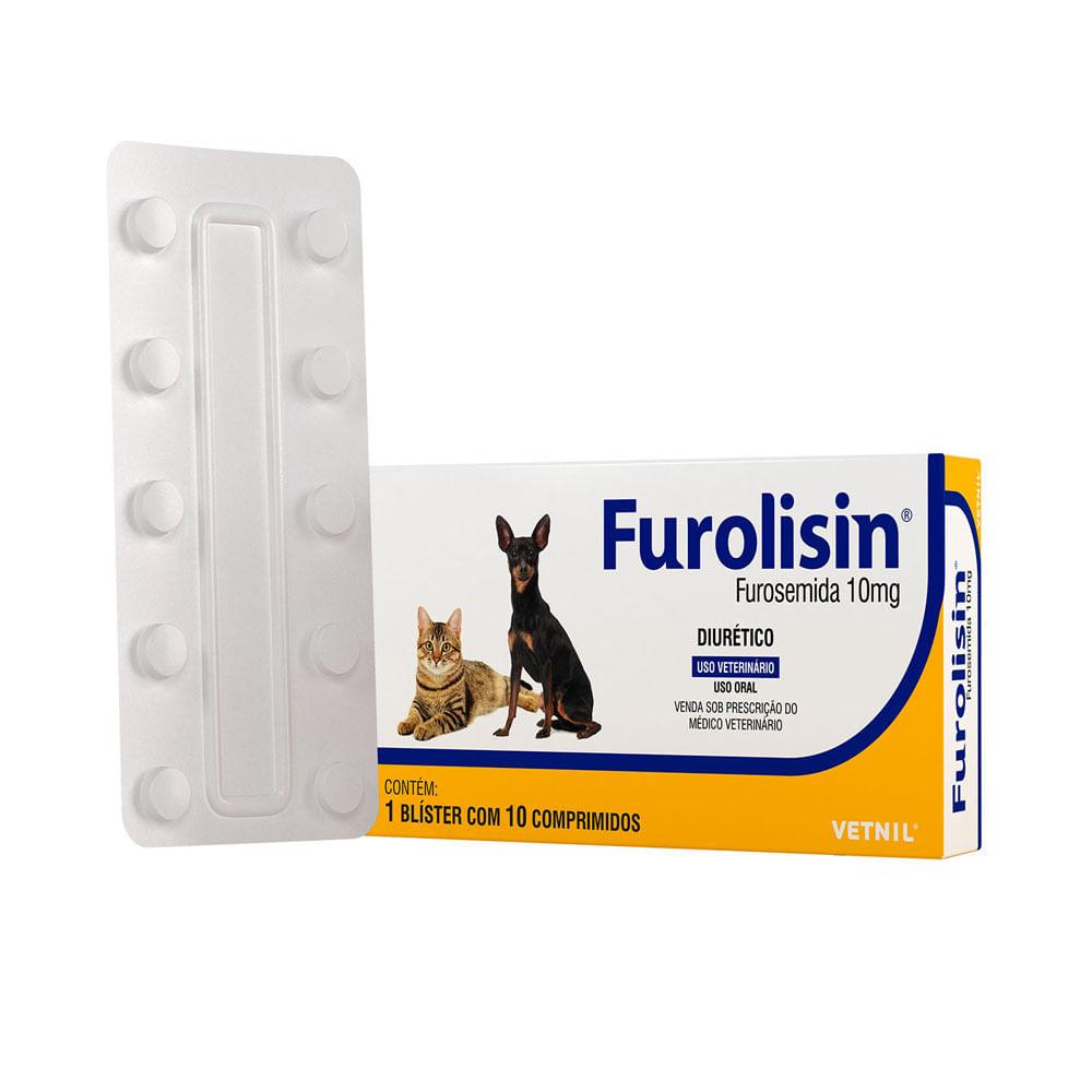 Furolisin 10mg 10 comprimidos Vetnil