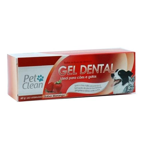 Gel Dental Petclean Morango 60g