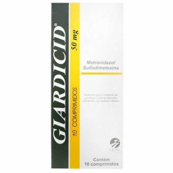 GIARDICID 50MG 10CP