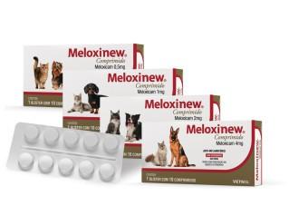 Meloxinew 1mg Vetnil Anti-inflamatório para Cães e Gatos 10 Comprimidos