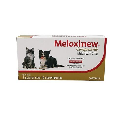 Meloxinew 2mg Vetnil Anti-inflamatório para Cães e Gatos 10 comprimidos