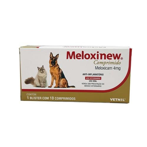 Meloxinew 4mg Vetnil Anti-inflamatório para Cães e Gatos 10 comprimidos
