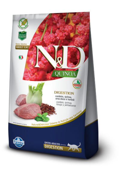ND QUINOA FELINE ADULT DIGESTION CORDEIRO