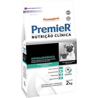 PREMIER NUTRIÇÃO CLINICA CAES HIPOALERGÊNICA HIDRO RAÇAS PEQUENAS