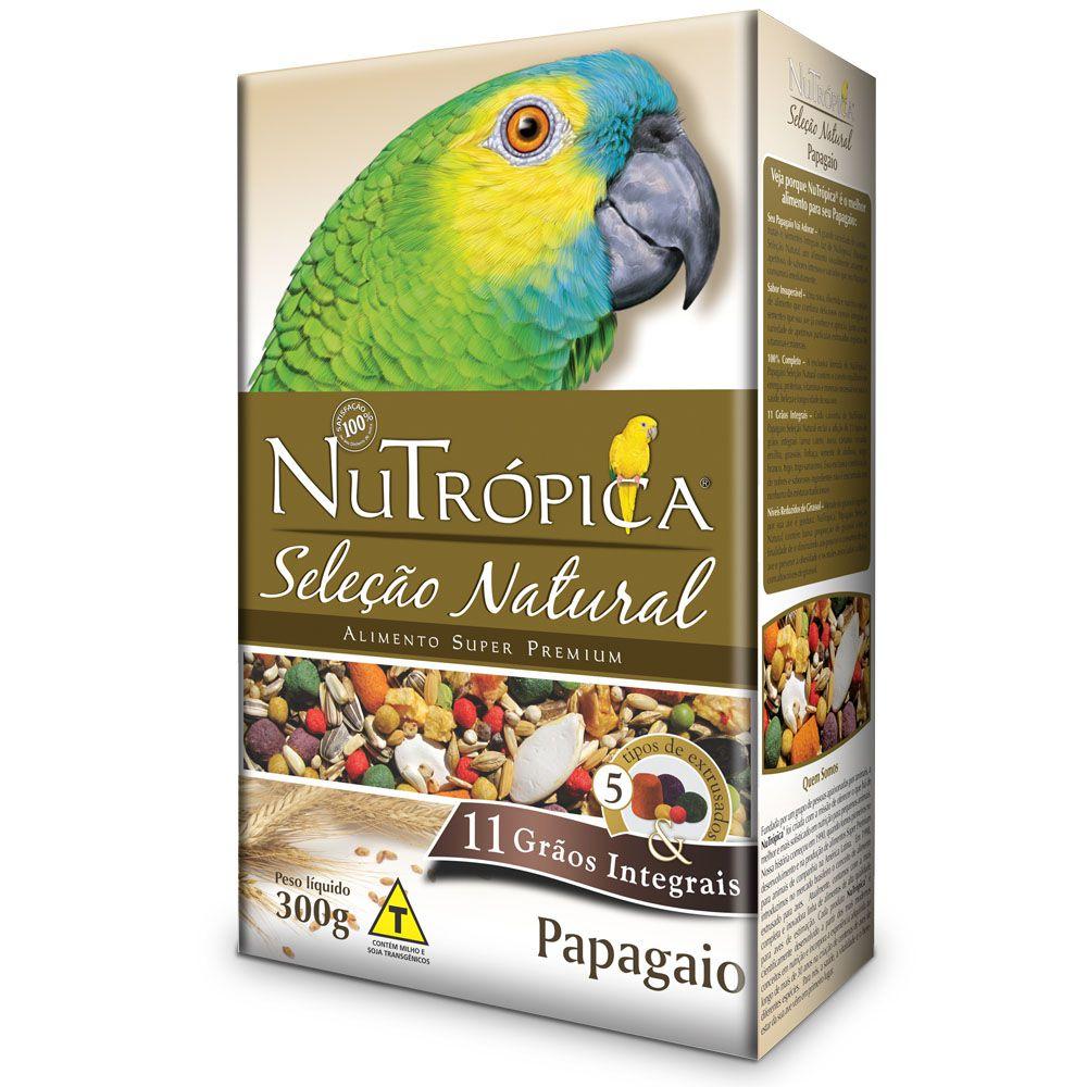 RAÇÃO NUTRÓPICA SELEÇÃO NATURAL PARA PAPAGAIOS 300G