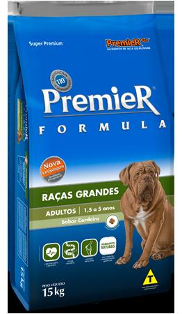 RAÇÃO PREMIER FORMULA CÃES ADULTOS RAÇAS G/GG CORDEIRO 15KG