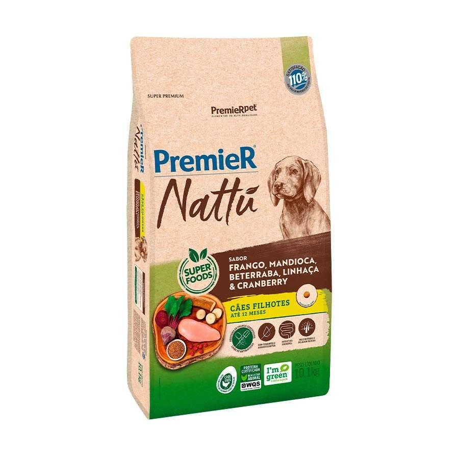 Ração Premier Nattu Cães Filhotes Mandioca