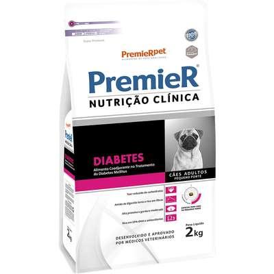 Ração Premier Nutrição Clínica Diabetes Cães Adultos Raças Pequenas