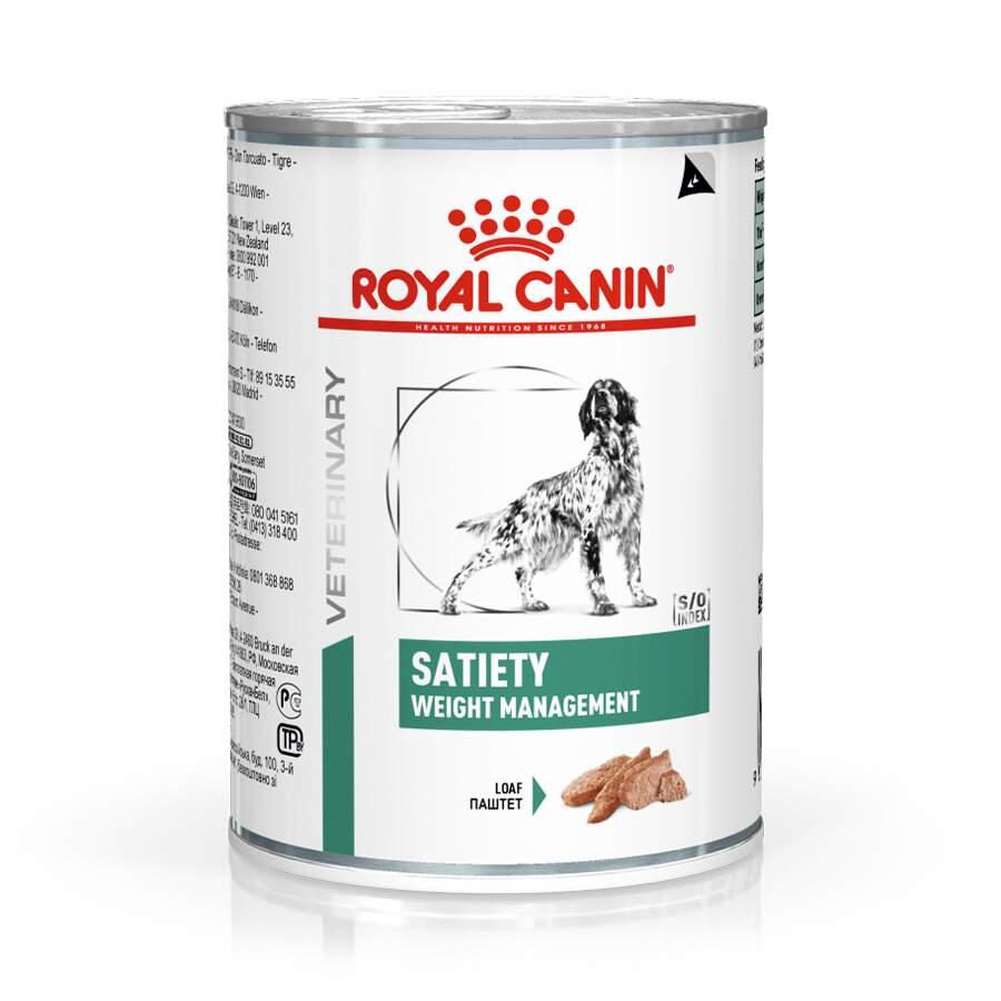 Ração Royal Canin Veterinary Satiety Diet Wet para Cães Adultos Obesos 410g