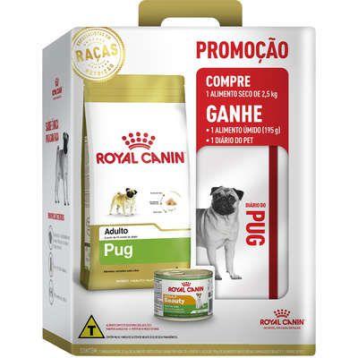 RAÇÃO ROYAL CANINE PUG ADULTO PROMOÇÃO 2019