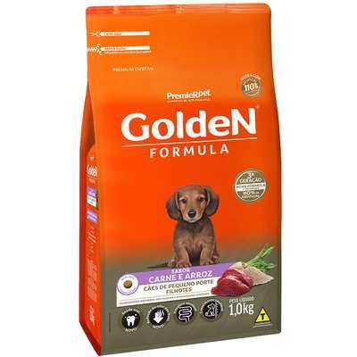 Ração Seca Golden Formula Carne e Arroz para Cães Filhotes de Raças Pequenas