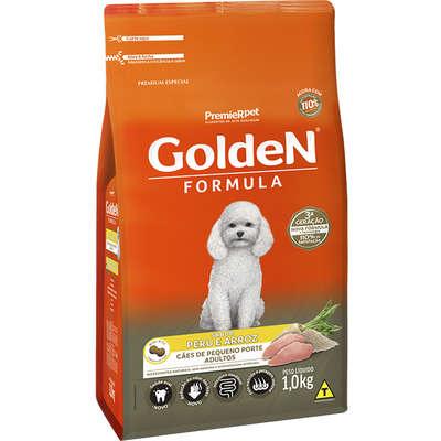 Ração Seca Golden Formula Peru & Arroz para Cães Adultos de Pequeno Porte