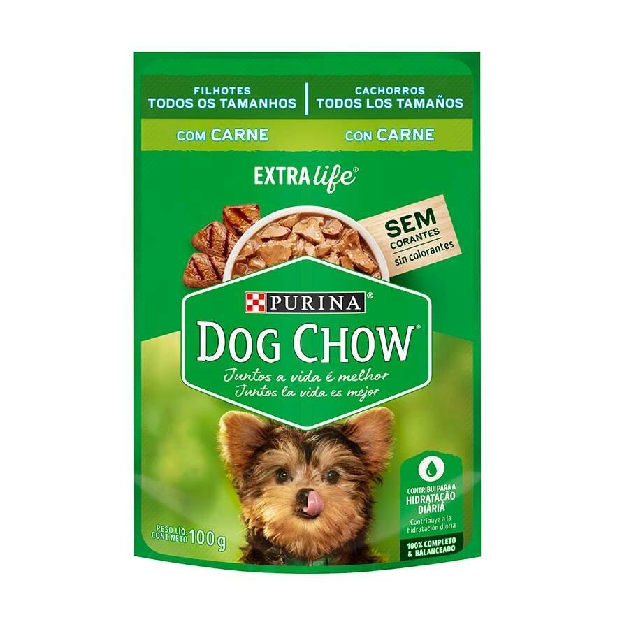 Ração Úmida Dog Chow Filhotes Todos os Tamanhos Sabor Carne Purina 100g