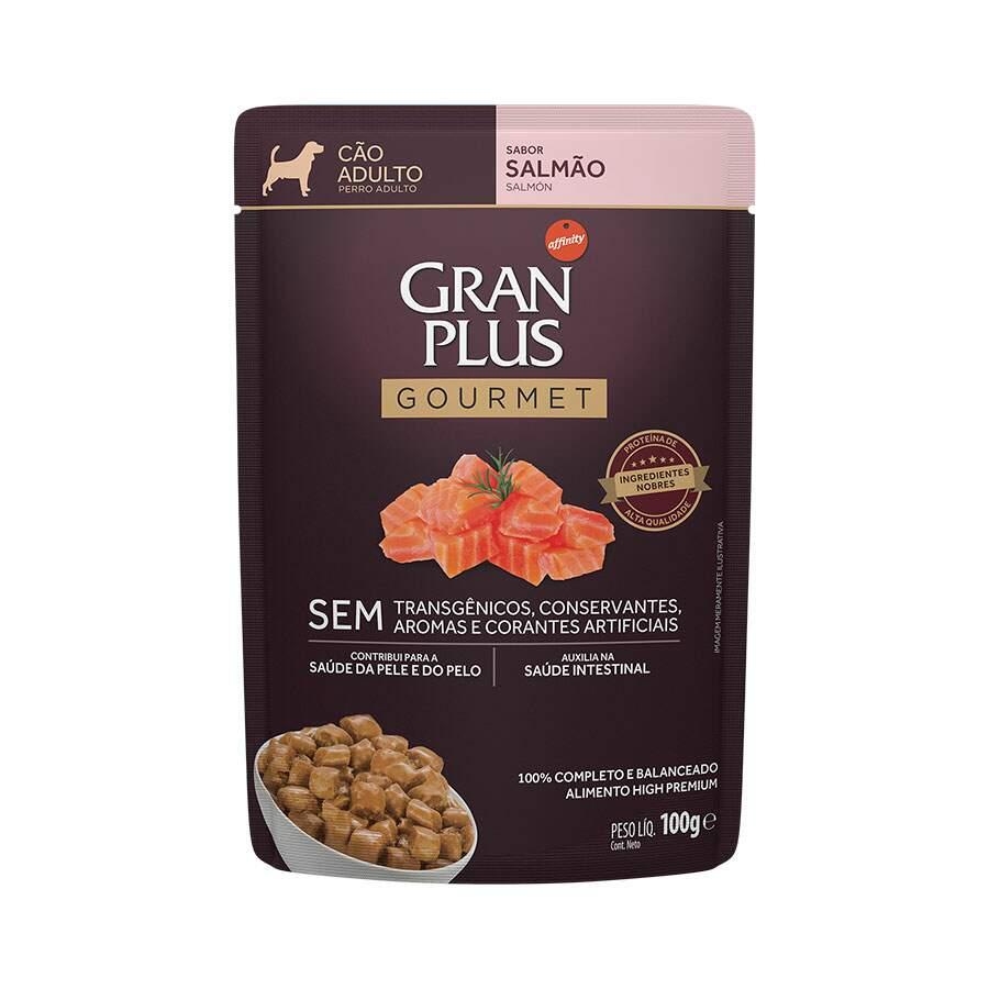 Ração Úmida Granplus Sachê Gourmet Cão Adulto Salmão 100g