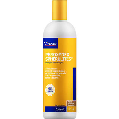 Shampoo Dermatólogico Virbac Peroxydex Spherulites para Cães e Gatos 125 ml