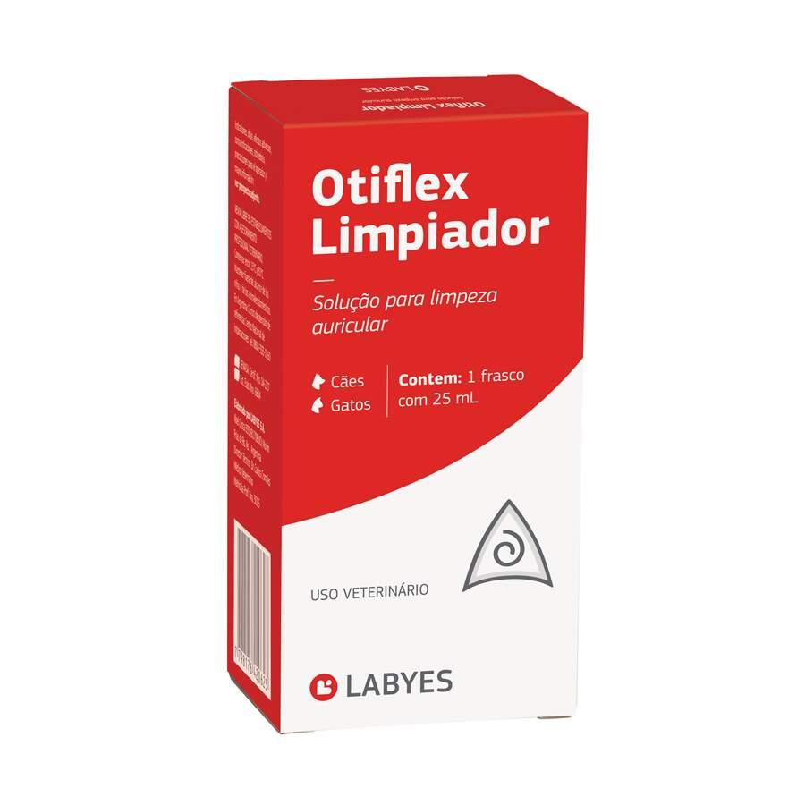 Solução para Limpeza de Ouvido Otiflex Limpiador para Cães e Gatos 25ml Labyes