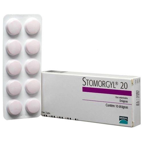Stomorgyl 20 Antibiótico Merial 10 Drágeas para Cães e Gatos