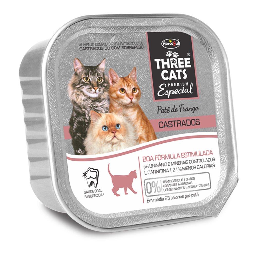 Three Cats Pate Castrados Boa Forma 90g