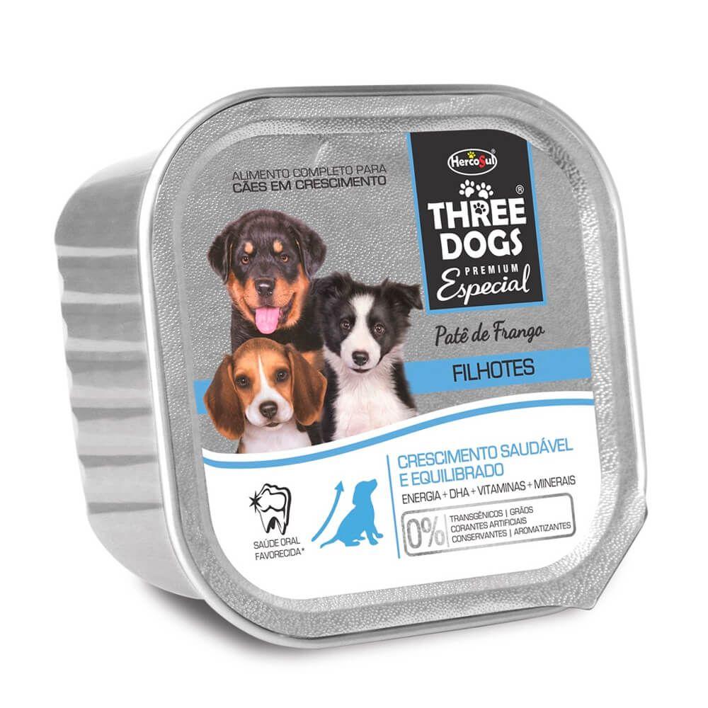 Three Dogs Pate Filhotes Cresc Saudavel 150g