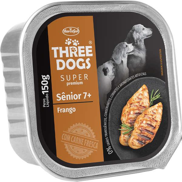 Three Dogs Pate Senior  7+ Frango 150g