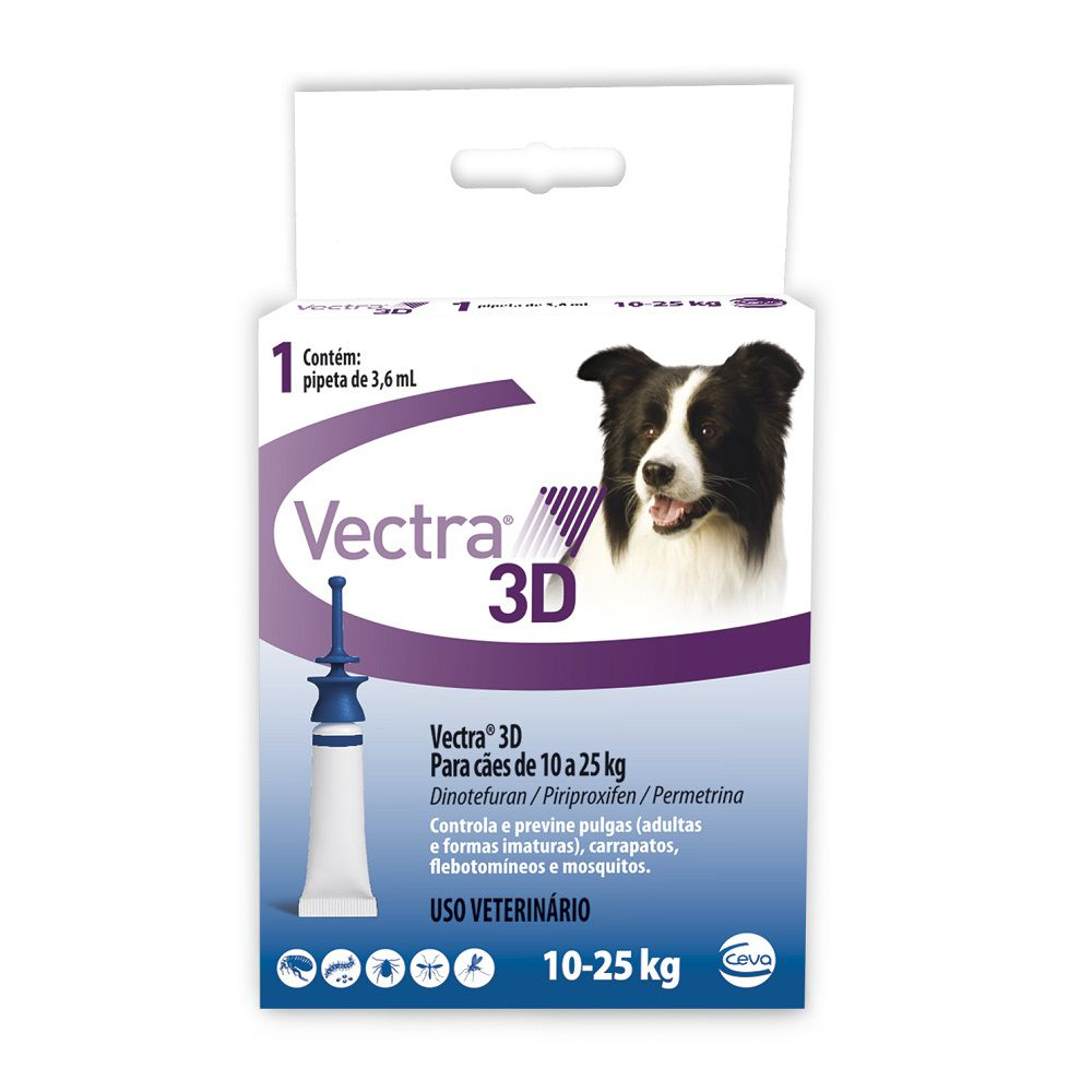 VECTRA 3D CÃES 10-25 KG