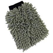 Luva de Microfibra Chinille Cinza Mandala