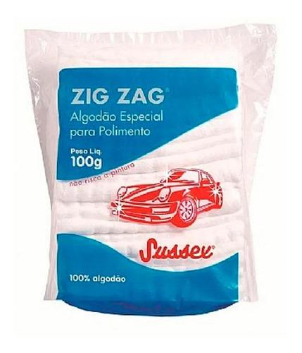 Algodão Automotivo Polimento Zig Zag Encerar Cristalizar